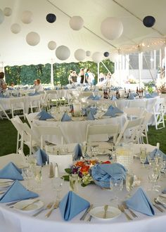Wedding Reception Paper Lanterns #simple #pretty #beautiful