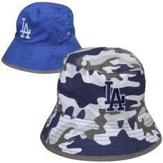 08b29894e3d New Era L.A. Dodgers Toddler Camo Switch Up Reversible Bucket Hat – Royal  Blue Dodgers Outfit