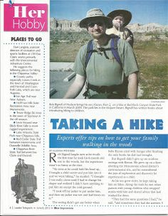 Eau Claire, Wis., newspaper features 'Hikes with Tykes' author's tips