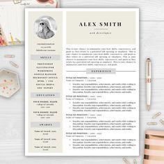 Professional résumé template editable in MS Word including résumé ...