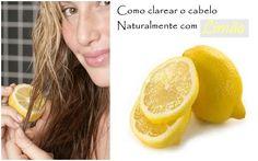 Saiba como clarear os cabelos naturalmente, sem tinta e com receitas caseiras feitas com camomila, canela, mel e limão.