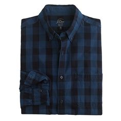"""Our indigo shirts are yarn-dyed with the good stuff, ensuring that they'll not only get better with age but fit better than the ones you'd find in a vintage shop. <ul><li>Classic fit.</li><li>For the taller guy, this shirt is 2"""" longer in the body and sleeves.</li><li>Cotton.</li><li>Button-down collar.</li><li>Patch pockets.</li><li>Machine wash.</li><li>Import.</li><li>Online only.</li><li>Since this item is indigo dyed, it's prone to crocking, or color transfer, so wear (and wash) it with ..."""