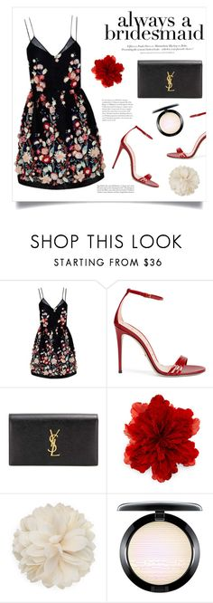 """""""Untitled #504"""" by lily1lol ❤ liked on Polyvore featuring The 2nd Skin Co., Gucci, Yves Saint Laurent, H&M and alwaysabridesmaid"""
