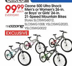 Bikes At Academy Sports Ozone Ultra Shock Men s or