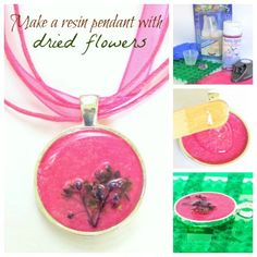 Resin Obsession blog:  How to make resin jewelry using dried flowers