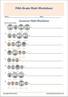Worksheets Consumer Math Worksheets Pdf printable consumer math worksheet fifth grade worksheets 5 mathematics worksheet
