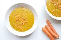 Clean Eating Rezepte: Die cremigste Suppe der Welt. Mit Curry, Süßkartoffeln und Karotten. @vitamix