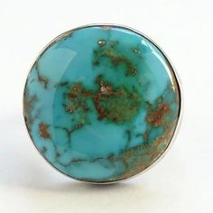 Candid Green Copper Turquoise Gemstone Silver Plated Handmade Statement Ring Us-8.5 Fashion Jewelry