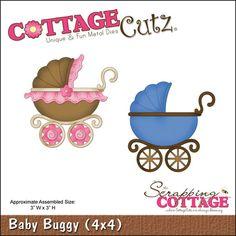 """CottageCutz Die 4""""x4"""" - Baby Buggy"""
