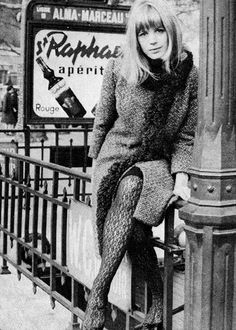 Previously unseen shot of Marianne Faithfull in Paris France 1964 Photographed by Roger Kasparian. Marianne Evelyn Faithfull (born December is an English singer, songwriter and actress, whose career has spanned six decades. Anita Pallenberg, Patti Hansen, L'wren Scott, Bianca Jagger, Marianne Faithfull, Sixties Fashion, Thing 1, Female Singers, In Pantyhose