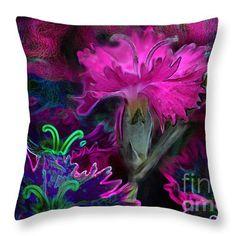 """Butterfly Garden 08 - Carnations"" © E. B. Schmidt. All Rights Reserved. Floral art decor throw pillow. (Available as prints, canvas, metal, and more.) www.ebschmidt.com #art #schmidt #flowers #FloralDecor"