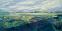 Aase Lind: LIMFJORDEN no 1 Acrylic on Canvas. 50x100x4cm
