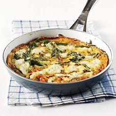 Herby Frittata with Vegetables and Goat Cheese Recipe   MyRecipes.com