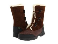 Ralph Lauren Quintessa Brown Leather Suede Shearling Snow Winter Boots 5 5.5 #RalphLaurenCollection #SnowWinter #RalphLaurenQuintessa #ShearlingBoots
