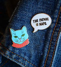 Dapper Cat Enamel Pin