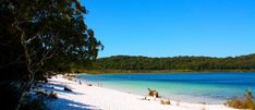 Fraser's most popular freshwater swimming hole, Lake McKenzie