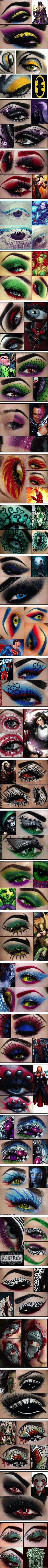 eye makeup-in superhero/villain style. Epic.