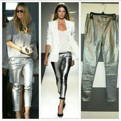 Metallic Silver Pants NWOT Get your party on in these amazing silver metallic pants!!! Rock these hot pants with heels and your favorite top. You can dress them up or make them casual. Pockets on back side.   Side zipper and button  Color silver metallic  Brand new, nwot  Size 30   *more sizes 26,27,28,29* *Sizes noted are not in inches* Celebrity Pink Pants Skinny