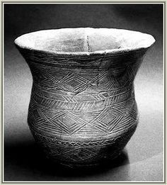 This beautiful bell beaker was found in the West Kennet Long Barrow and is dated to before 2500BC