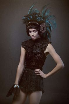 Forest-Inspired Headpieces - Ashley Lloyd's Latest Creations are Sensually Nymph-Like (GALLERY)