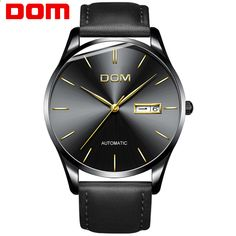 0d578cf9962 Homens relógio DOM Novo Top de Luxo Da Marca de Aço Inoxidável pulseira  esporte relógio relógios de Pulso Mecânicos atual relogio masculino  M-89BK-1M