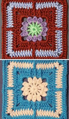 [Free Crochet Pattern] Insanely Cute Flower Square