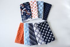 Burp cloths, YOU PICK 3, nautical / sailboat / etc.. $18.00, via Etsy.