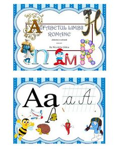 S.T.R.U.M.F.: Alfabetul strumfilor Teacher Supplies, Alice In Wonderland Party, Letters And Numbers, Classroom Decor, Roman, Writing, School, Fun, Being A Writer
