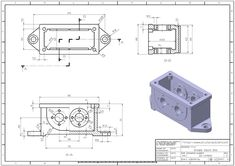 학습자료 > 3D 연습도면 > 3D모델링 연습도면 859 : 네이버 블로그 Mechanical Engineering Design, Mechanical Design, Autocad, Sheet Metal Drawing, Fusion Design, 3d Printer Designs, 3d Cnc, Industrial Design Sketch, Youtube Drawing