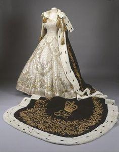 Holy cow. Queen Elizabeth II's coronation robes, ca. 1952