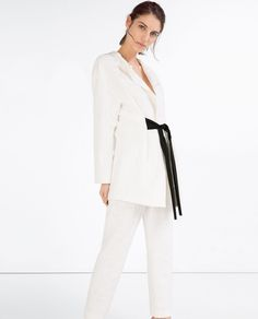Image 1 of LONG JACQUARD BLAZER from Zara