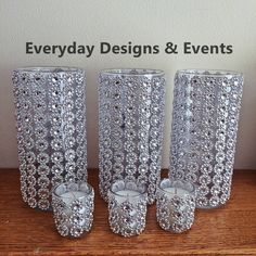 Glitzy Wedding Centerpiece Set - Bling without the glitter mess! Perfect for weddings, baby showers, Bling Wedding Centerpieces, Bling Centerpiece, Candle Centerpieces, Wedding Decorations, Gold Candles, Diy Candles, Glitter Candles, Bling Baby Shower, Bottle Art