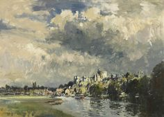 Sunlight After Storm, Windsor by Edward Seago, 1955.