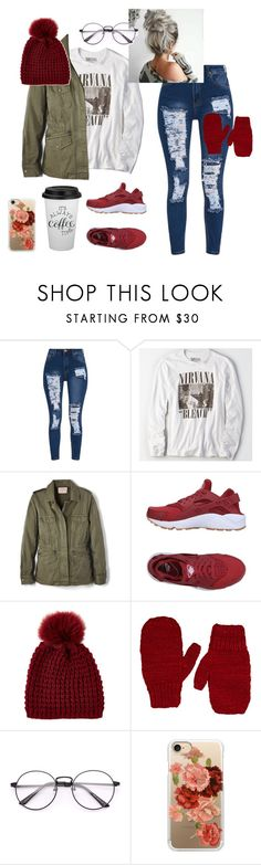 """""""Lazy day (for freezing days)"""" by faith-32 on Polyvore featuring American Eagle Outfitters, Velvet by Graham & Spencer, NIKE, Kyi Kyi, The Elder Statesman and Casetify"""