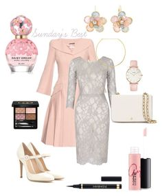 """Sunday's better than Best #lacemedown #lace #pink"" by stephenierae on Polyvore featuring Alexander McQueen, Gianvito Rossi, Gucci, Marc Jacobs, MAC Cosmetics, Mixit, CLUSE, Jennifer Zeuner and Tory Burch"