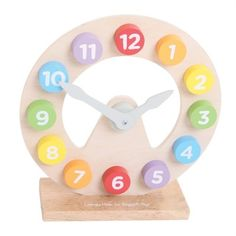 Bigjigs toys Drevené hodiny