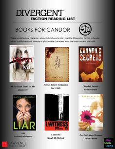 This is cool, high school teachers: Reading lists for each of the factions in Divergent