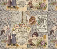 Vintage Girls fabric by peagreengirl on Spoonflower - custom fabric