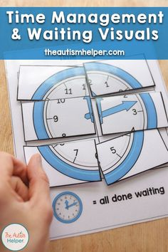 Time Management and Waiting Visuals Social Skills Activities, Classroom Activities, Classroom Hacks, Classroom Setup, Behaviour Management, Time Management, Classroom Management, Autism Classroom, Special Education Classroom