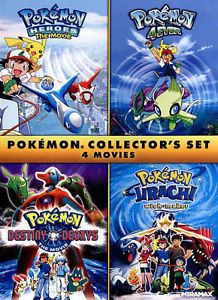 Pokemon Collector's Set: 4 Movies (DVD, 2015)