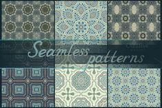 16 seamless patterns by Dainia on @creativemarket