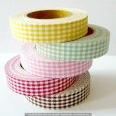 Mini Gingham Check Pattern Decorative Fabric Tape