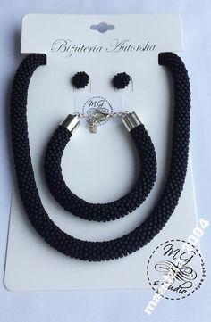 Komplet biżuterii hand made z japońskich koralików