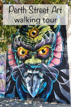 If you are looking for what to do in Perth, I can suggest the best walking tour of Perth Street Art. #visitperth #australia #streetart