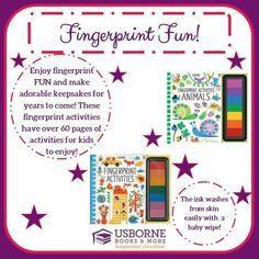 Fingerprint Fun! There is now four fingerprint books