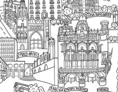 """Check out new work on my @Behance portfolio: """"barcelona panoramic map"""" http://be.net/gallery/50581733/barcelona-panoramic-map"""