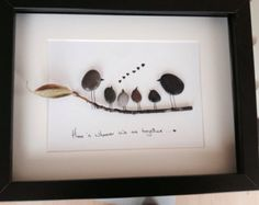 "Home Is Wherever We Are Together - Pebble Art...love this ""))"