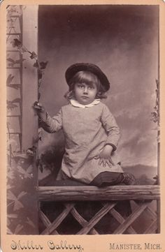 Vintage cabinet card of a cute farmer boy
