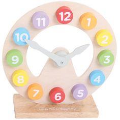 De acum inainte invatatul unitatilor de masurare a timpului va fi mult mai distractiv! Ceasul educativ este confectionat din lemn de calitate, este colorat in nuante deschise si are limbile mobile. Este un element decorativ perfect pentru orice... Malm, Ikea, Toys, Orice, Activity Toys, Ikea Co, Clearance Toys, Gaming, Games
