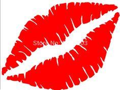 Glow in the Dark Tattoo Stickers Best Designs – My hair and beauty Car Window Decals, Car Decals, Vinyl Decals, Vinyl Art, Pink Lips, Red Lips, Lip Stencil, Stenciling, Lipstick Primer